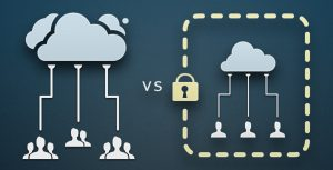 Private vs public cloud