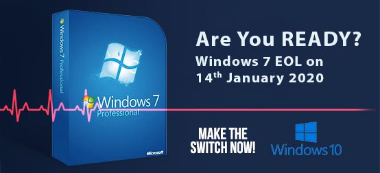 Are you ready for Windows 7 End of Life on 14 January 2020?