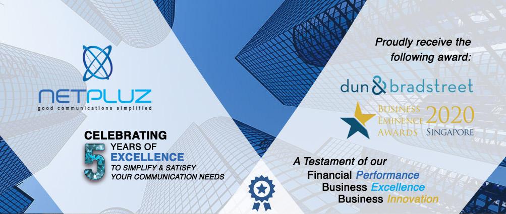 Netpluz Asia Pte Ltd awarded Business Eminence Award 2020 by Dun & Bradstreet