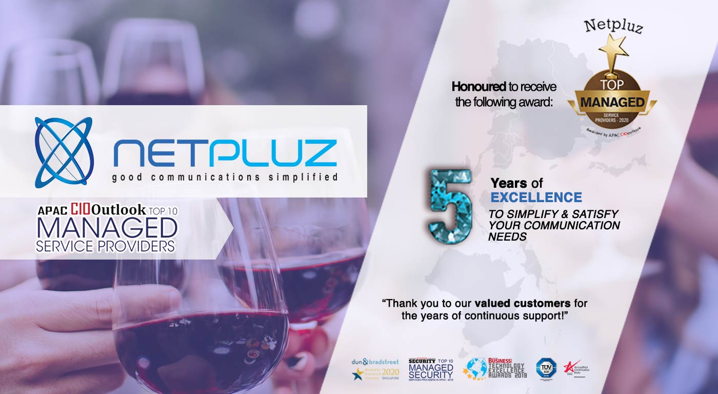 Netpluz named Top 10 Managed Service Providers by APAC CIO Outlook